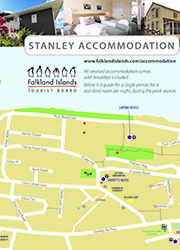 Stanley Accommodation Map