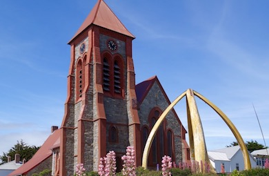Christ Church Cathedral in Stanley- Falkland Islands