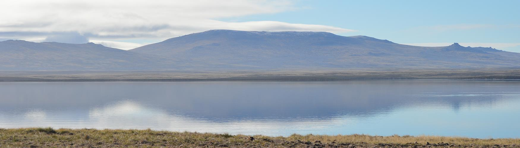 Mount Usborne is the highest peak of the Falkland Islands, located on the East Falkland