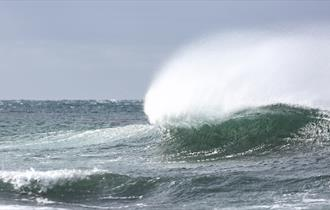 Waves for surfing in the Falkland Islands