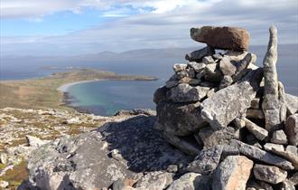 View from the hills of the Falkland Islands