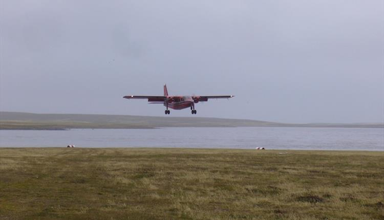 Travel to outlying islands and remote destinations in the Falklands is by FIGAS aircraft